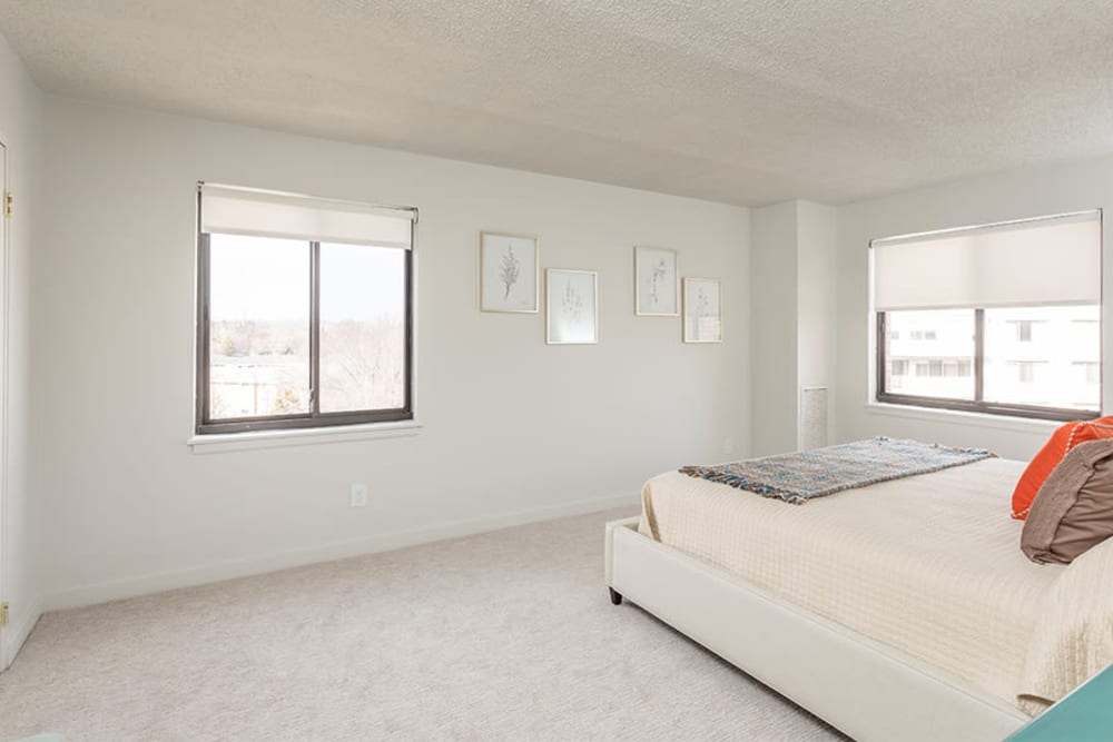 Master bedroom at The Venue in Rochester, New York