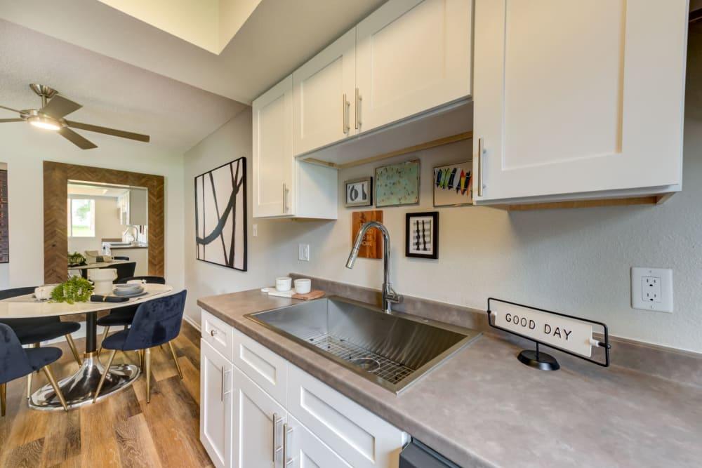 Kitchens with plenty of counter space at Sofi Ventura in Ventura, California