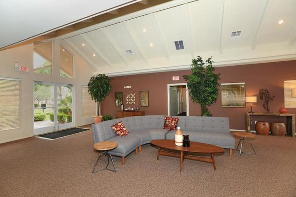 Clubhouse lounge area at Alterra Apartments in Las Vegas, Nevada