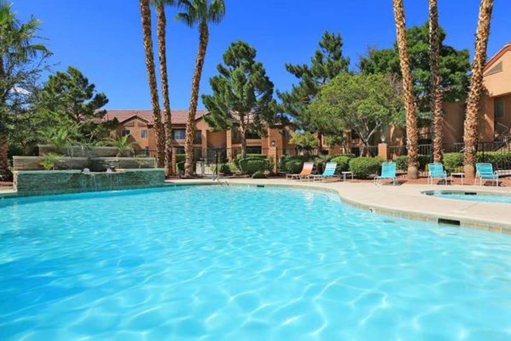 Resort-style swimming pool at Alterra Apartments in Las Vegas, Nevada