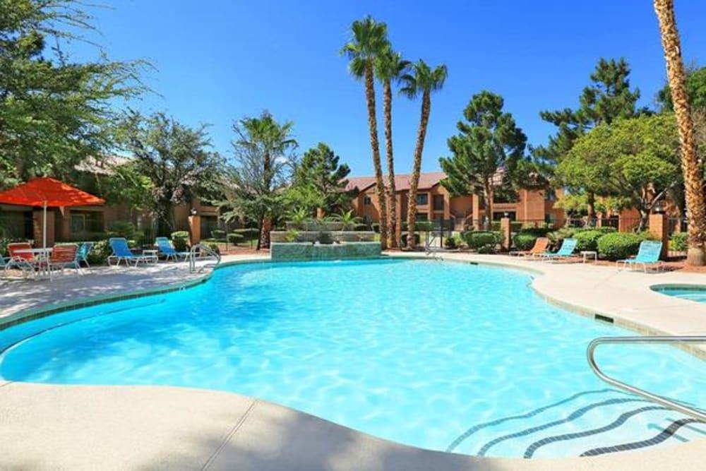 Resort-inspired swimming pool at Alterra Apartments in Las Vegas, Nevada