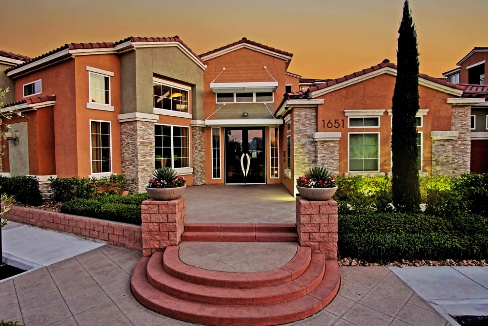 Exterior of the Leasing Office at Miro at the Parc in Henderson, Nevada