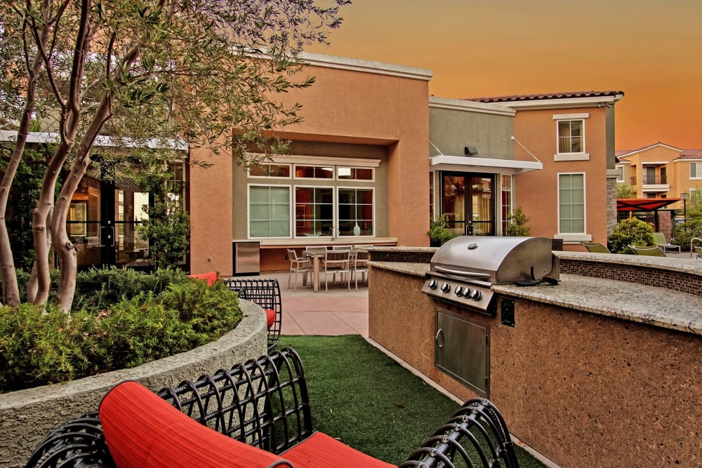 BBQ Area at Miro at the Parc in Henderson, Nevada