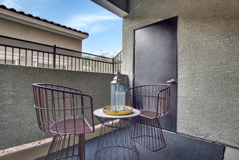 Private Balcony at Apartments in Henderson, Nevada