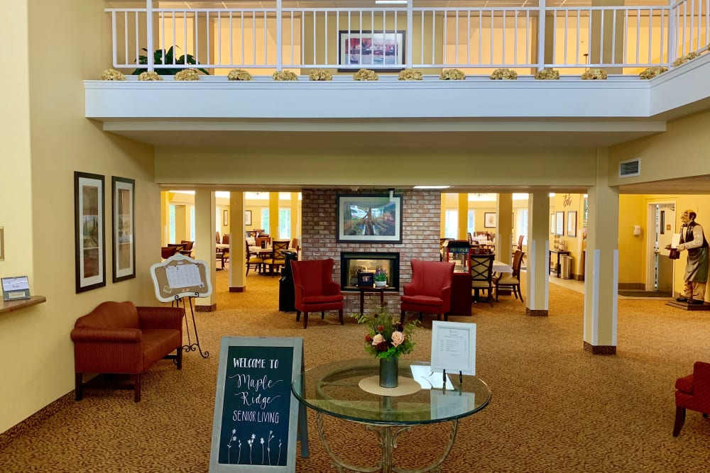 Welcome center at Maple Ridge Senior Living in Ashland, Oregon