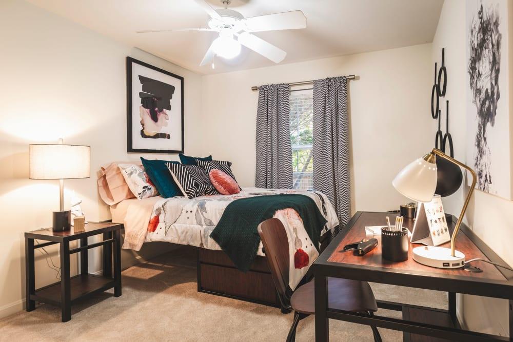 Spacious bedroom at Sunchase at James Madison in Harrisonburg, Virginia