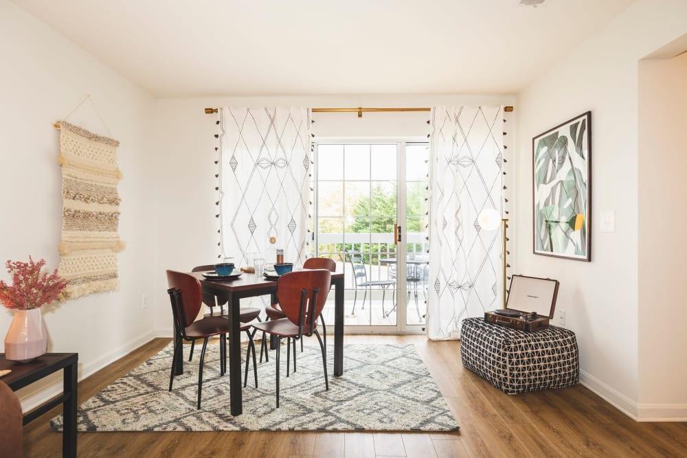 Furnished living room at Sunchase at James Madison in Harrisonburg, Virginia
