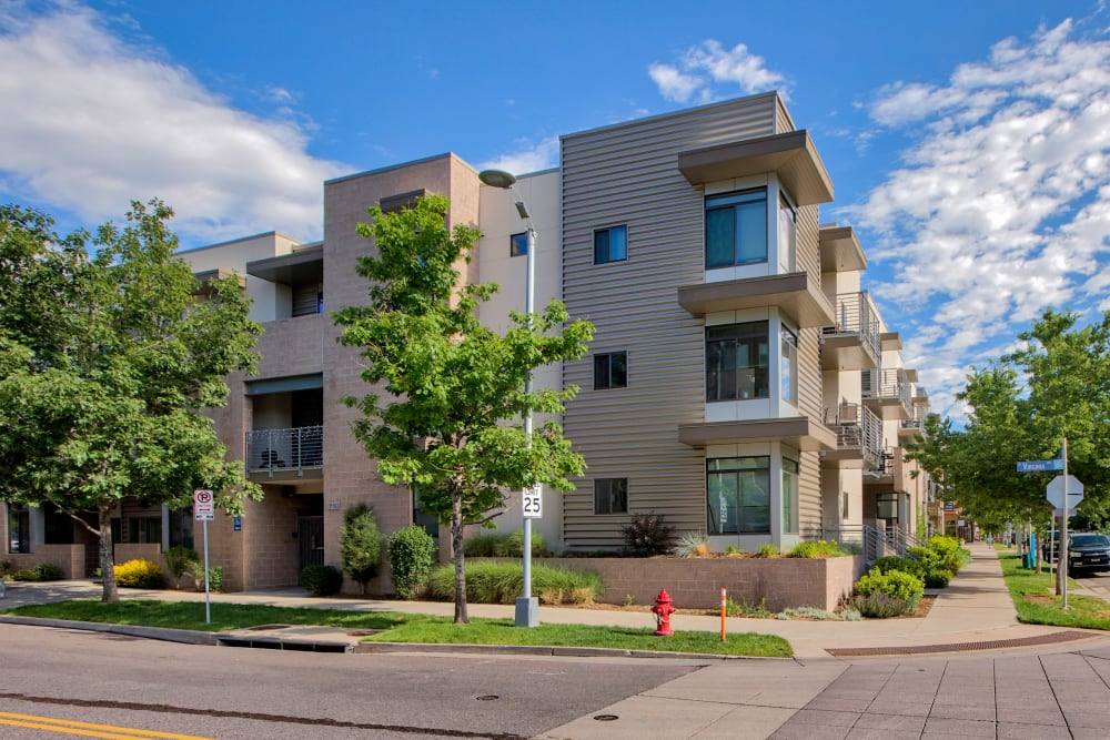 Exterior of at Downtown Belmar Apartments in Lakewood, Colorado