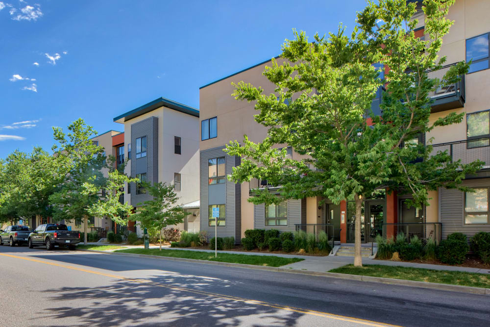 Exterior of at Downtown Belmar Apartments | Modern Apartments in Lakewood, Colorado