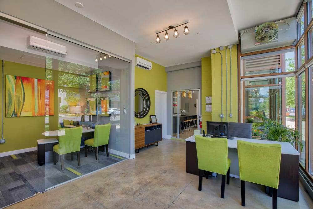 Leasing Office at Downtown Belmar Apartments in Lakewood, Colorado