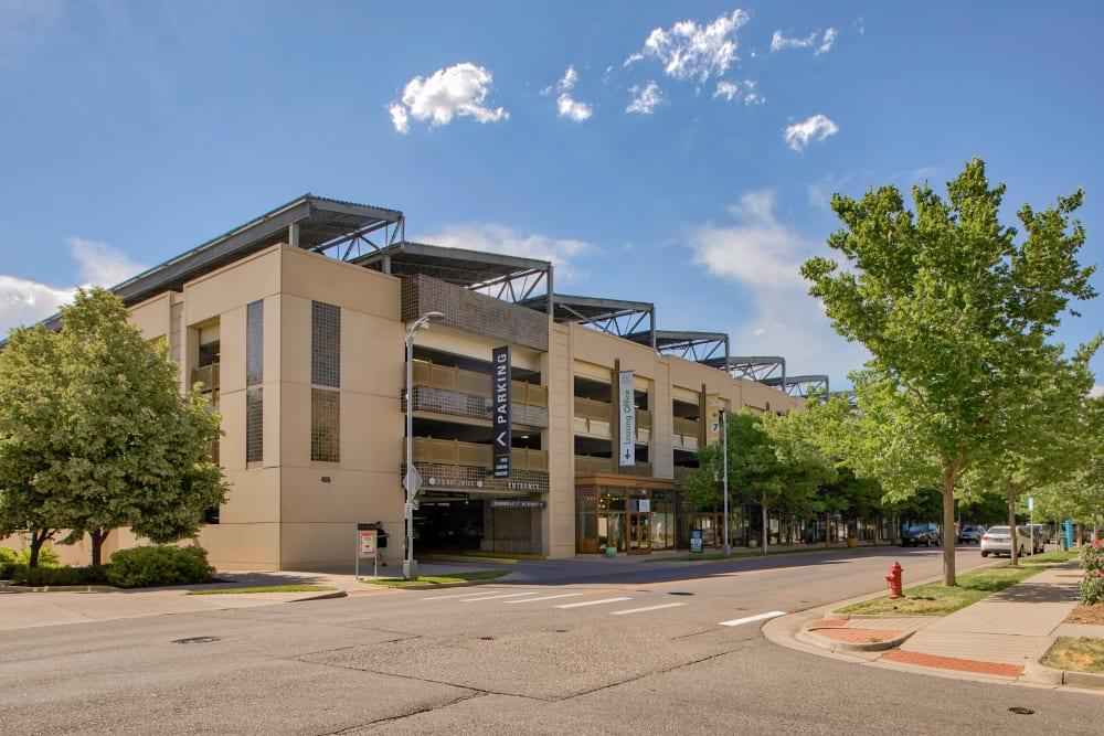 Exterior of Downtown Belmar Apartments in Lakewood, Colorado