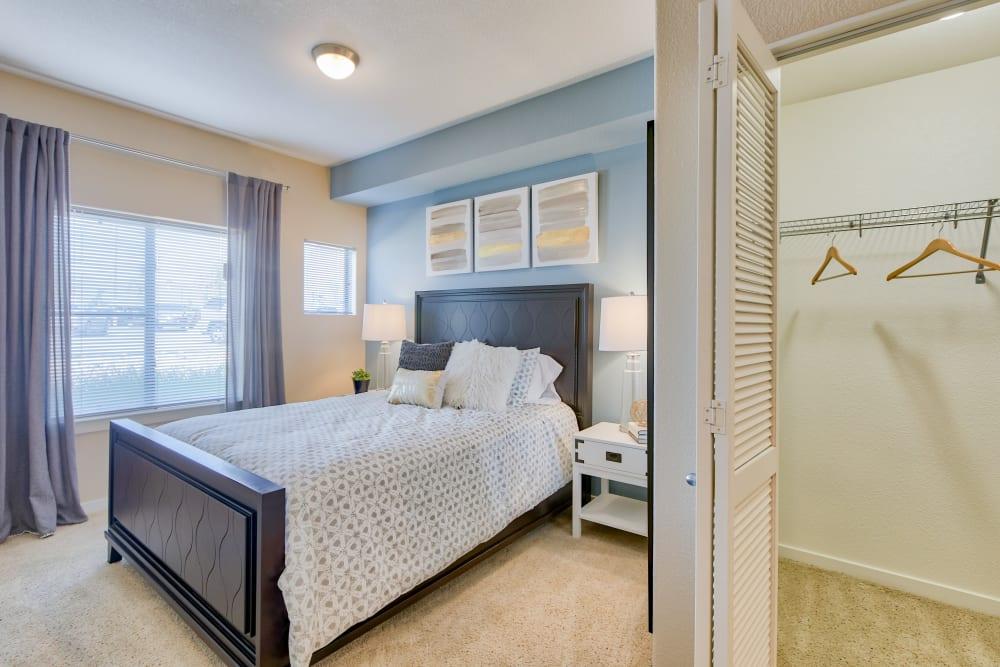Beautiful Bedroom at Downtown Belmar Apartments in Lakewood, Colorado