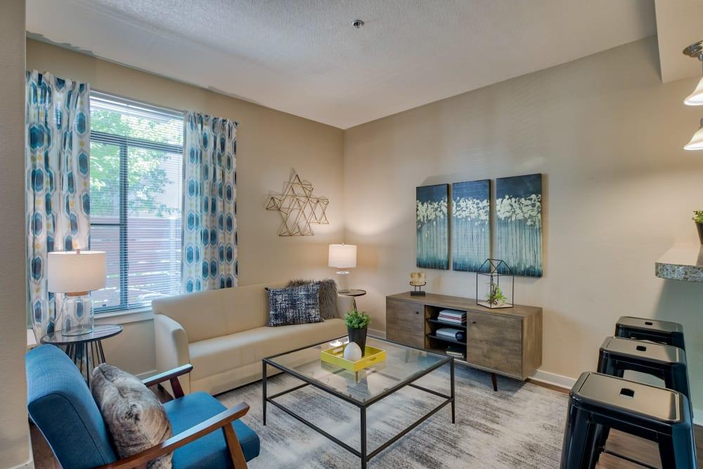 Living Room at Downtown Belmar Apartments in Lakewood, Colorado
