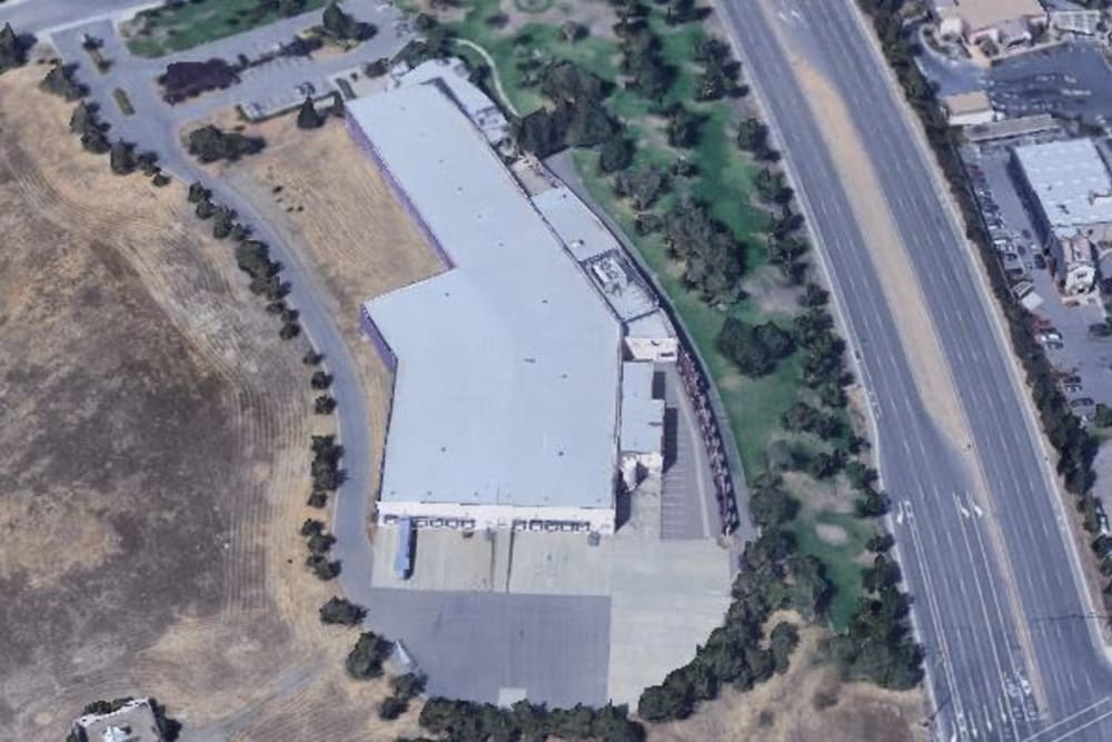 An aerial view of Superior Self Storage in El Dorado Hills, California