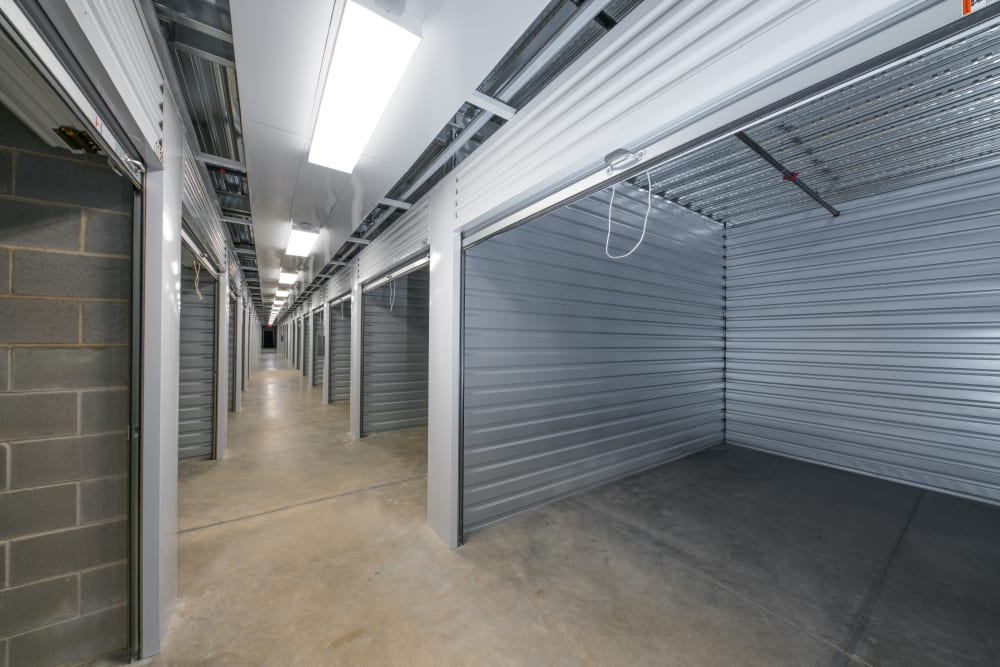 Indoor storage units at Superior Self Storage in El Dorado Hills, California