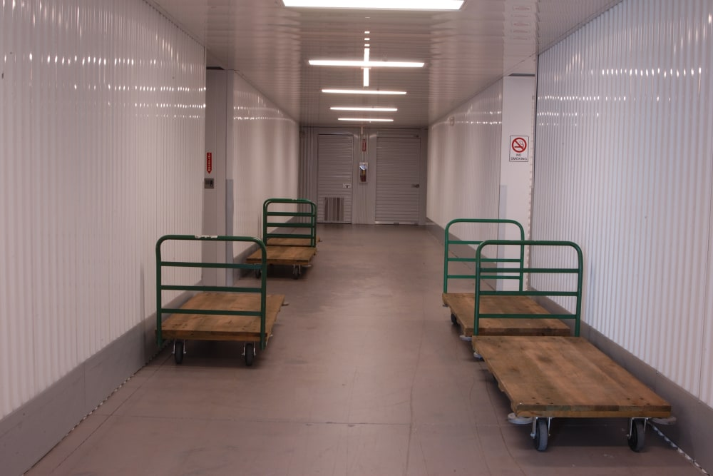 Moving carts at Superior Self Storage in El Dorado Hills, California