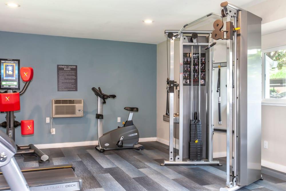 Exercise equipment at Bennington Apartments in Fairfield, California