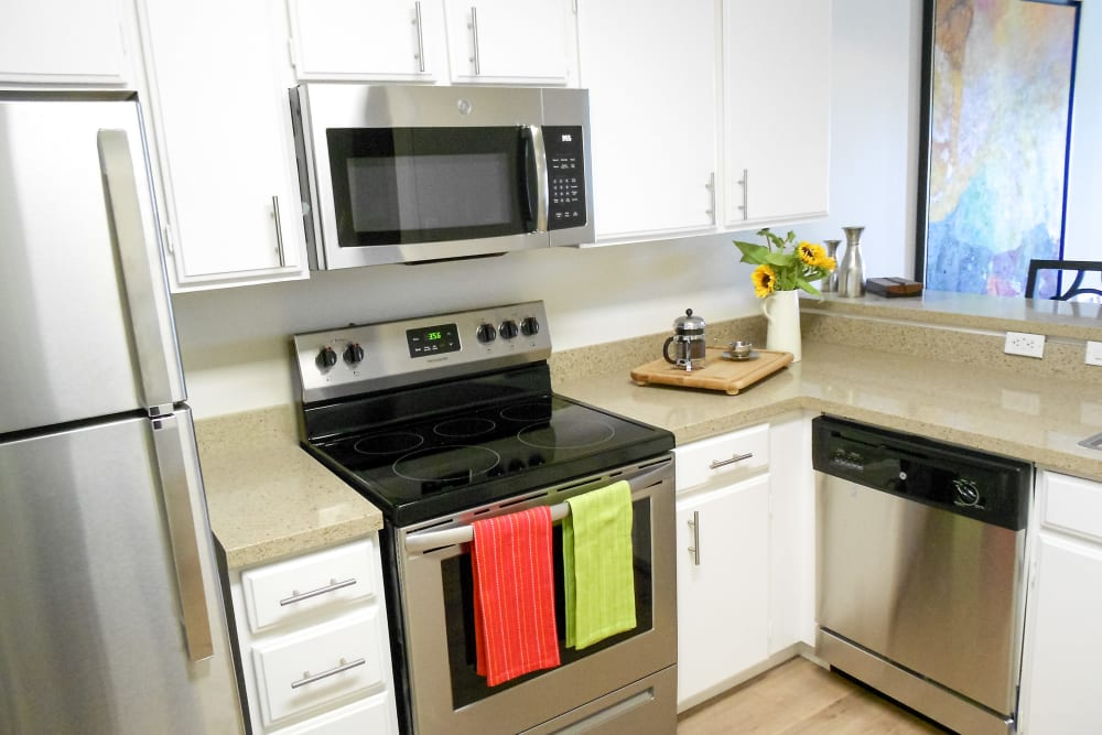 Kitchen at Hillsborough Plaza Apartments in San Mateo, California