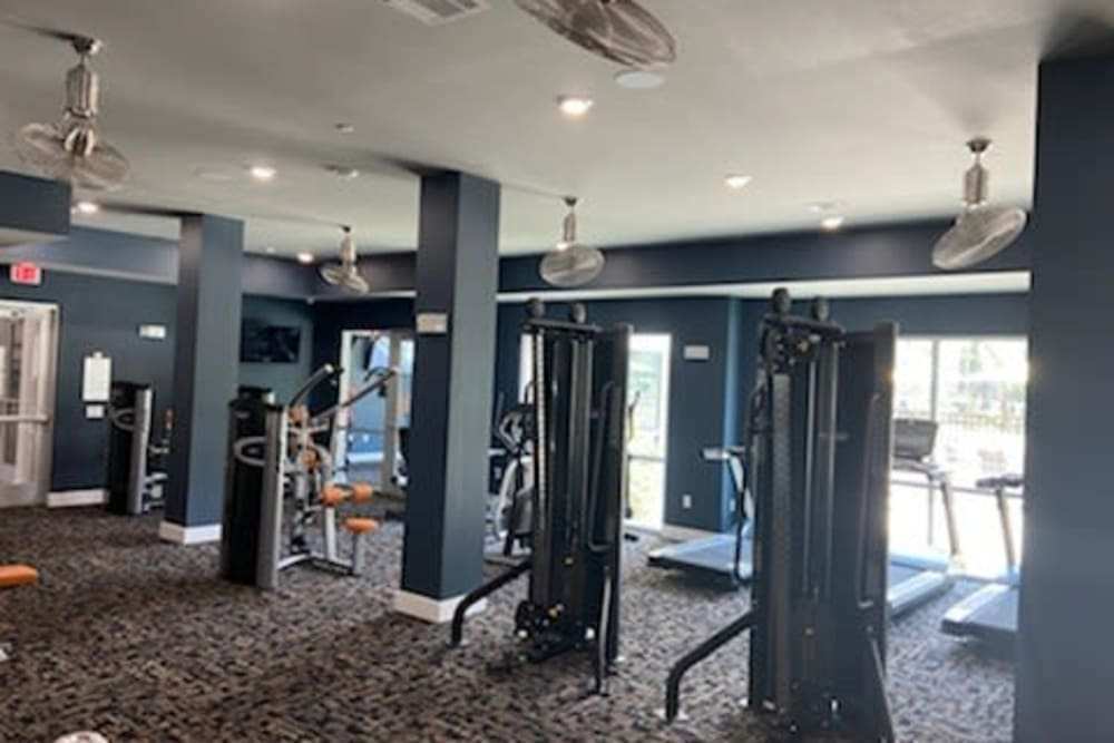 Fitness center at The Abbey at Sonterra in San Antonio, Texas