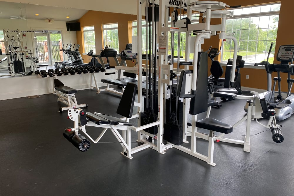 Fitness room at Sunchase at Longwood in Farmville, Virginia
