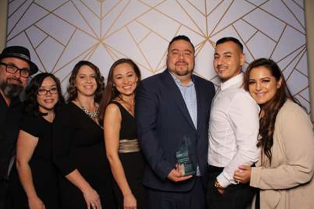 Sequoia employees at the award ceremony for IREM Inland Empire