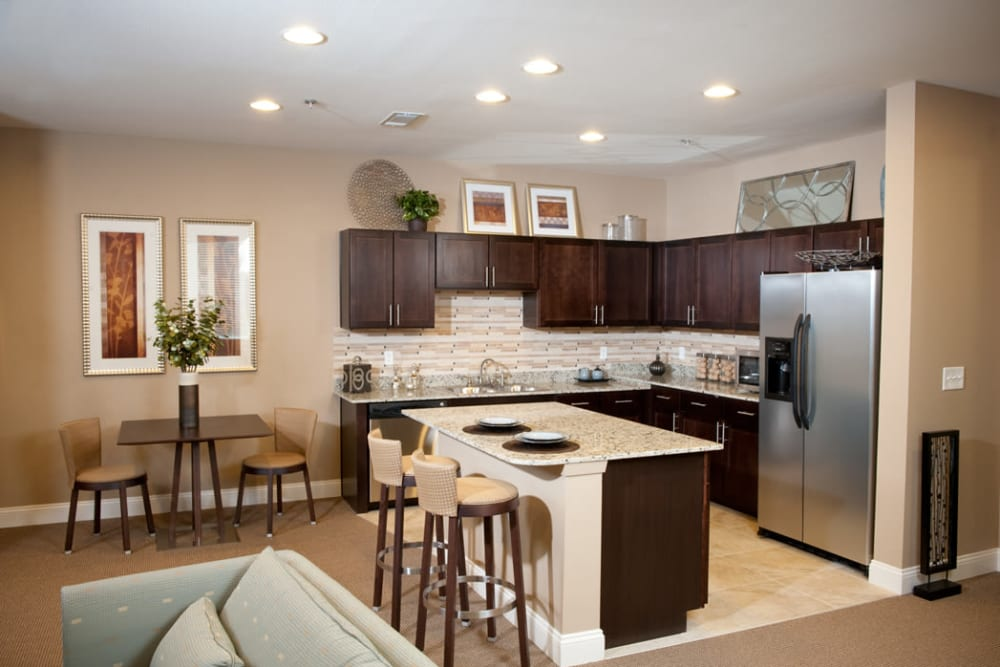 Resident kitchen area at Meridian in New Orleans, Louisiana