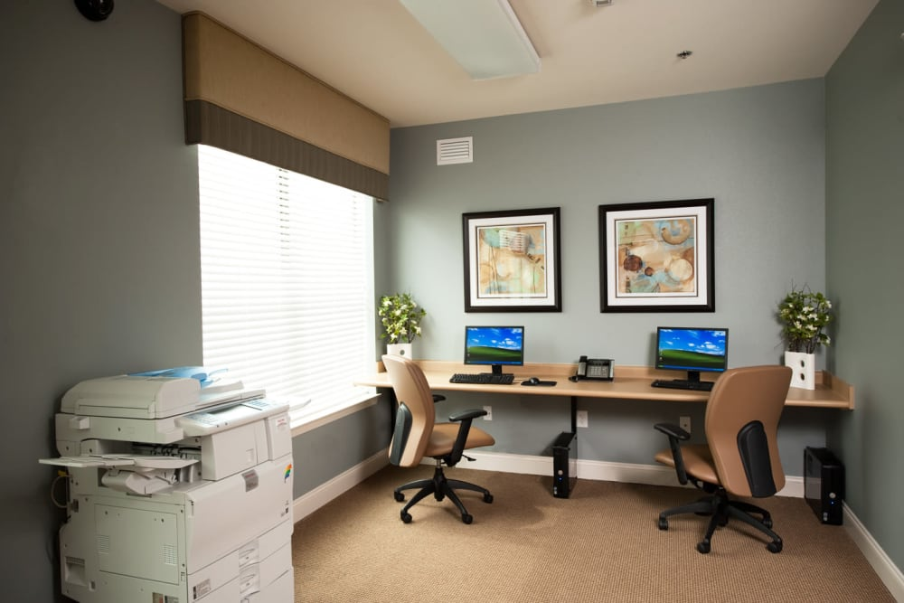 Resident business center at Meridian in New Orleans, Louisiana
