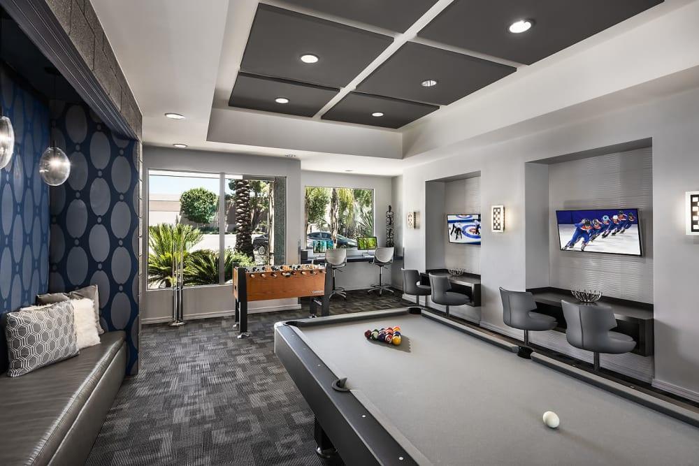 Community entertainment center at Avenue 25 Apartments in Phoenix, Arizona