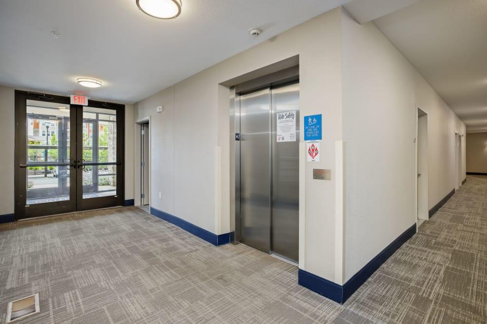 Elevator access at Altitude 970 in Kansas City, Missouri.
