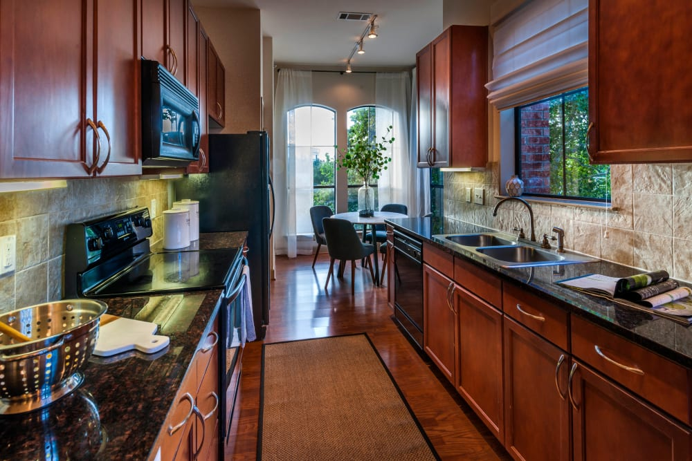High end kitchen counter tops at Residences at The Triangle in Austin, Texas