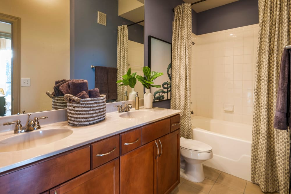High end bathroom at Residences at The Triangle in Austin, Texas