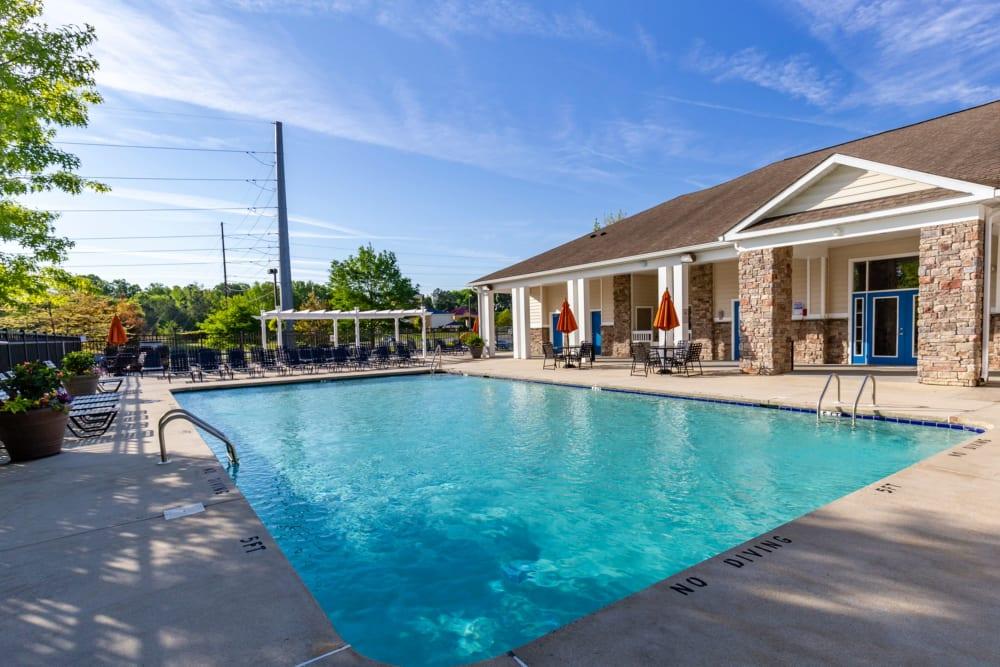 Swimming pool at Sunchase Apartments in Greenville, North Carolina