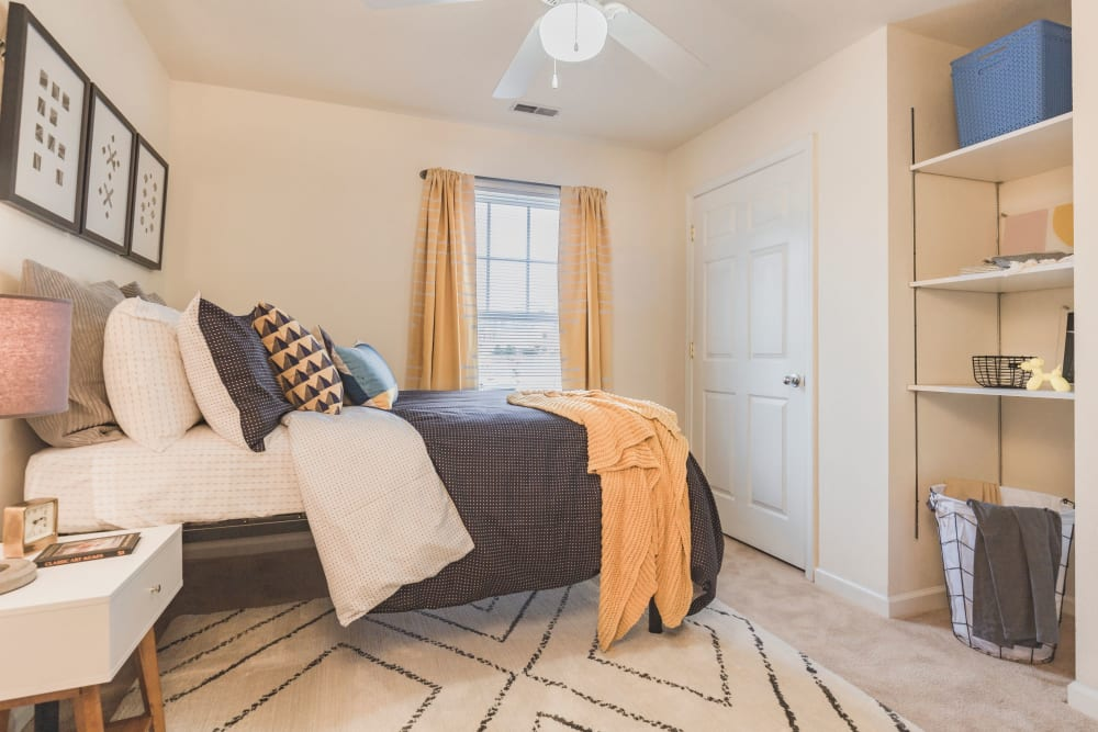 Bedroom at Sunchase Apartments in Greenville, North Carolina