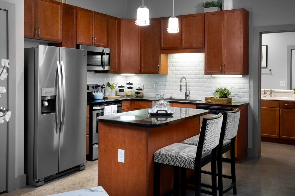 Stainless steel appliances at Residences at The Triangle in Austin, Texas
