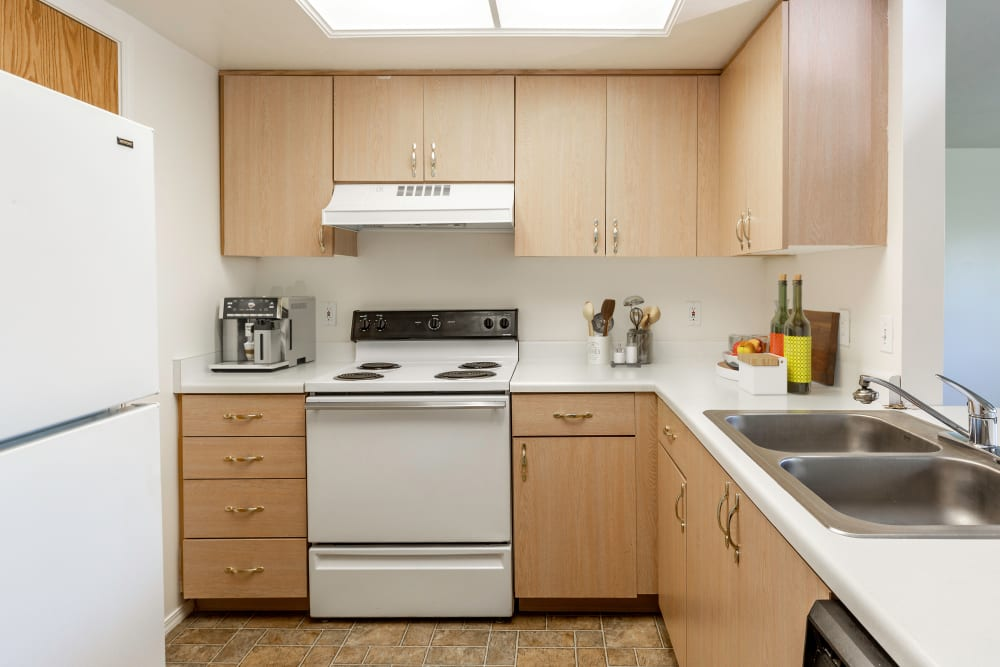 Kitchen at Lakeside Apartments in Wheaton, Illinois
