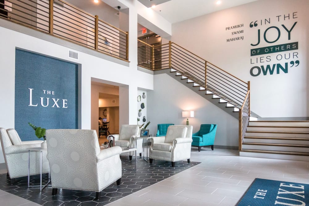 Lobby of The Luxe at Cedar Hill in Cedar Hill, Texas
