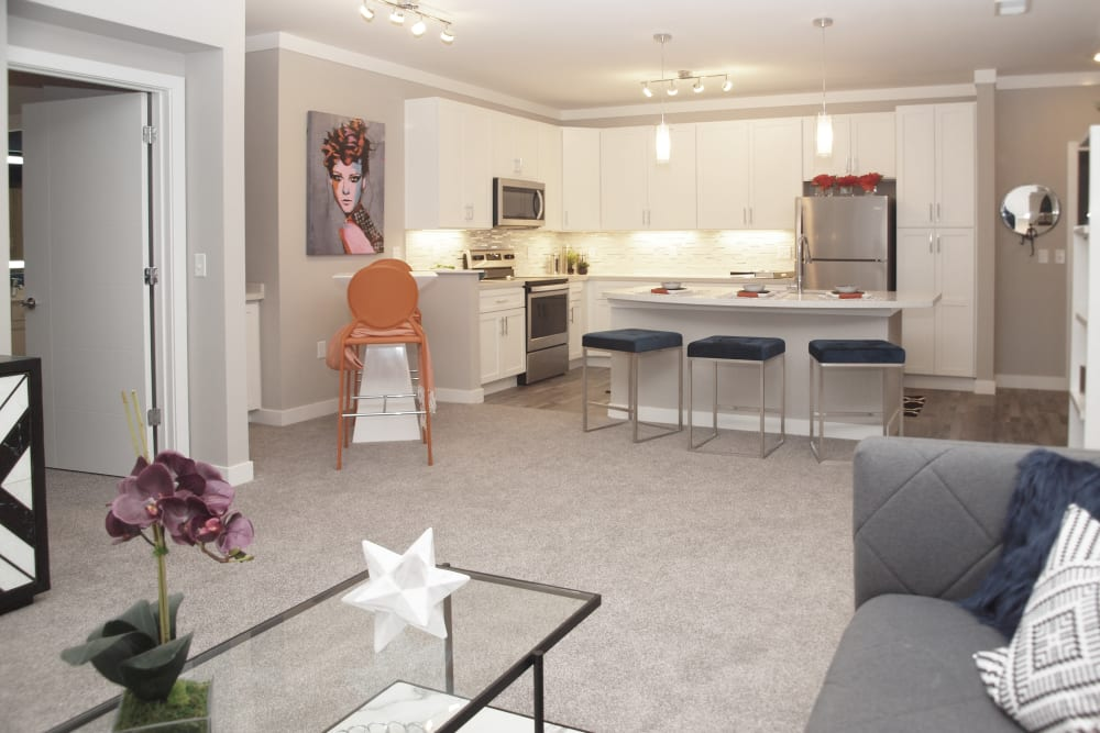 Rialto Hurstbourne offers a Beautiful Living Room in Louisville, Kentucky