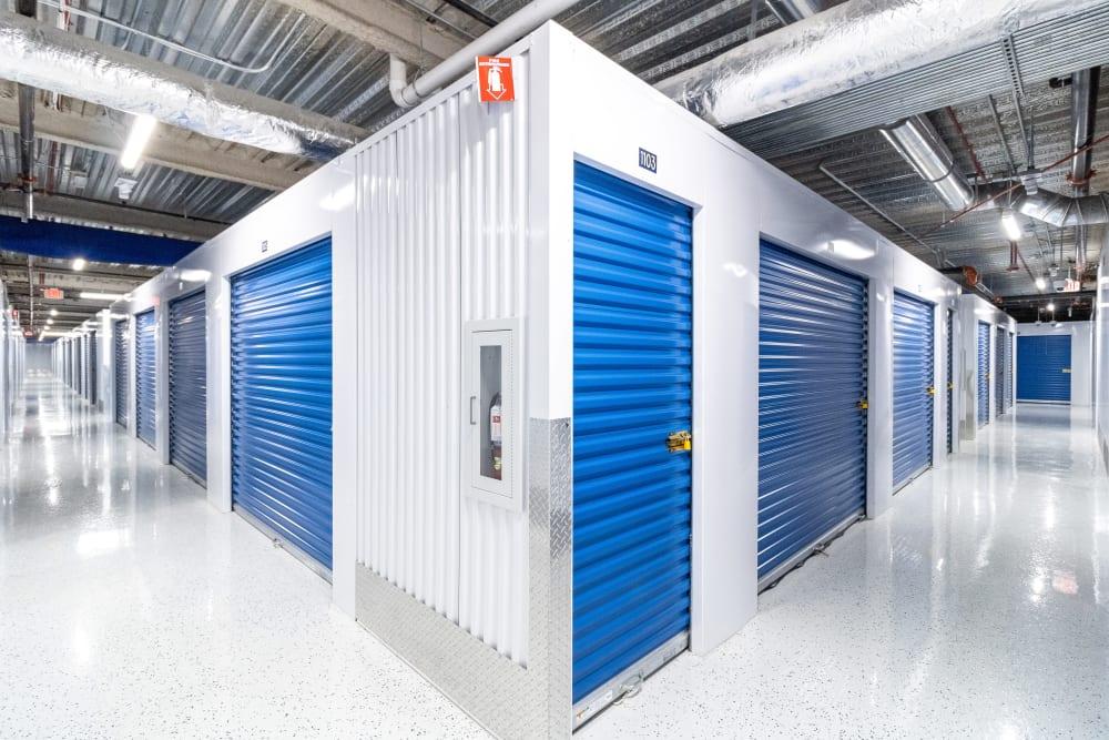 Indoor storage units at Atlantic Self Storage in Jacksonville, Florida