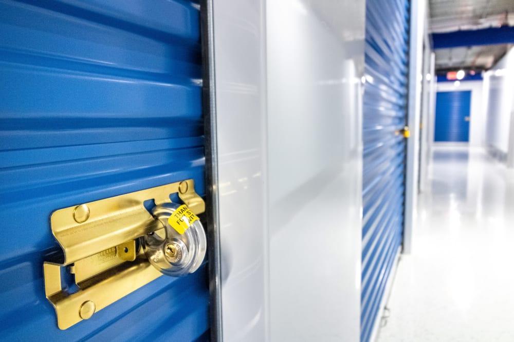 A storage locker at Atlantic Self Storage in Jacksonville, Florida