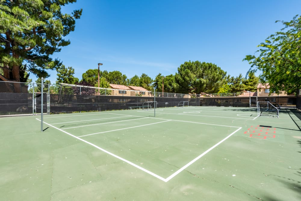 Tennis Court at Granada Villas Apartment Homes in Lancaster, California