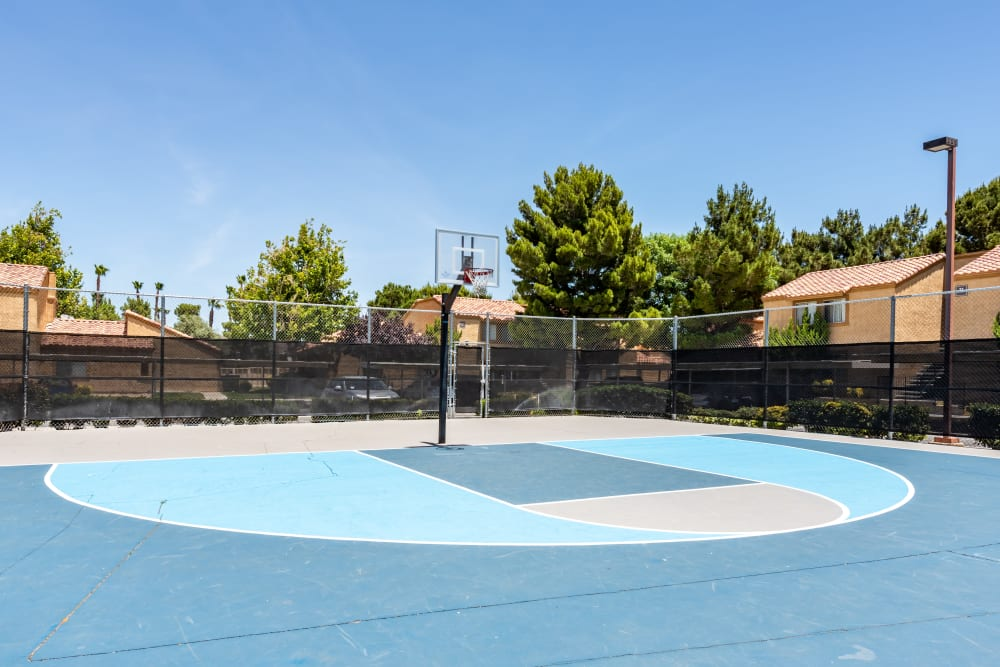 Basketball Court at Granada Villas Apartment Homes in Lancaster, California