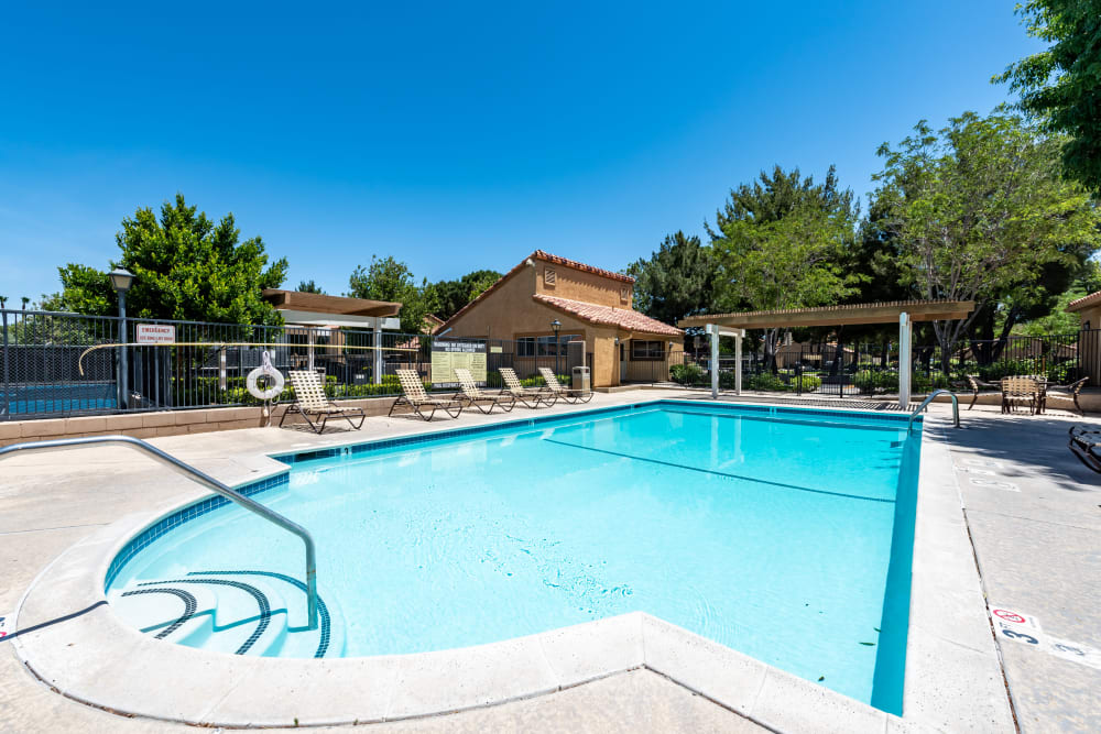 Swimming Pool at Granada Villas Apartment Homes in Lancaster, California