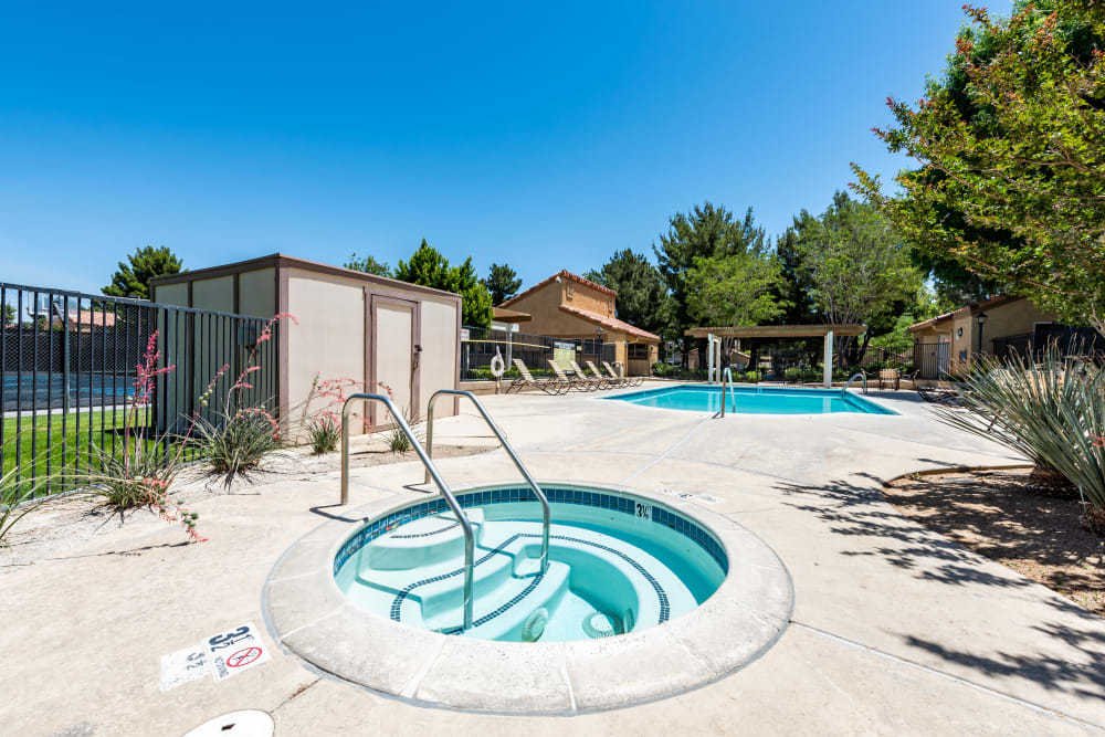 Hot tub at Granada Villas Apartment Homes in Lancaster, California