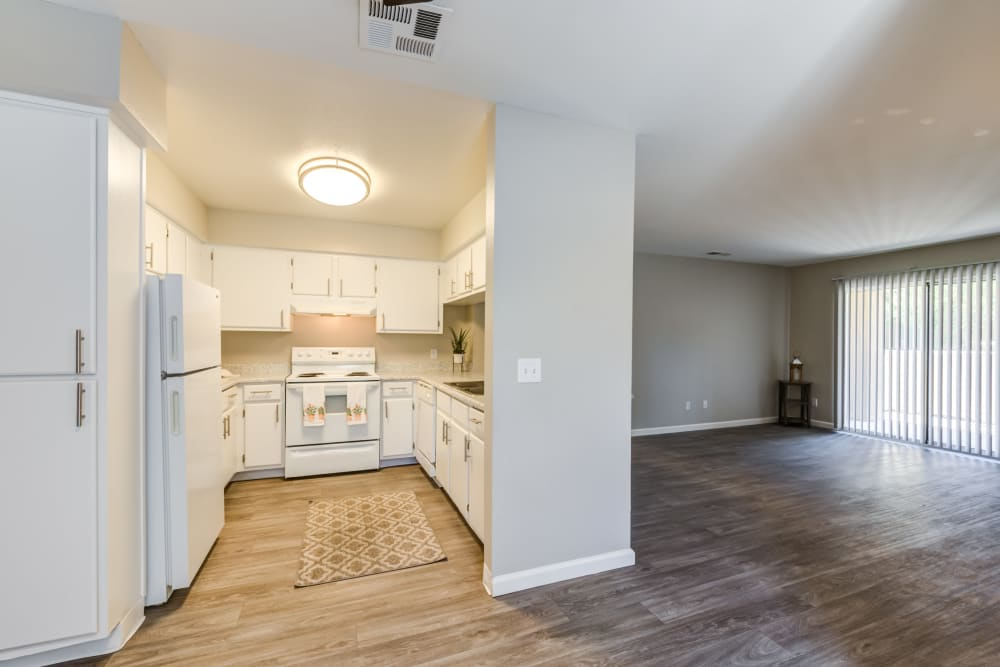 Kitchen at Granada Villas Apartment Homes in Lancaster, California