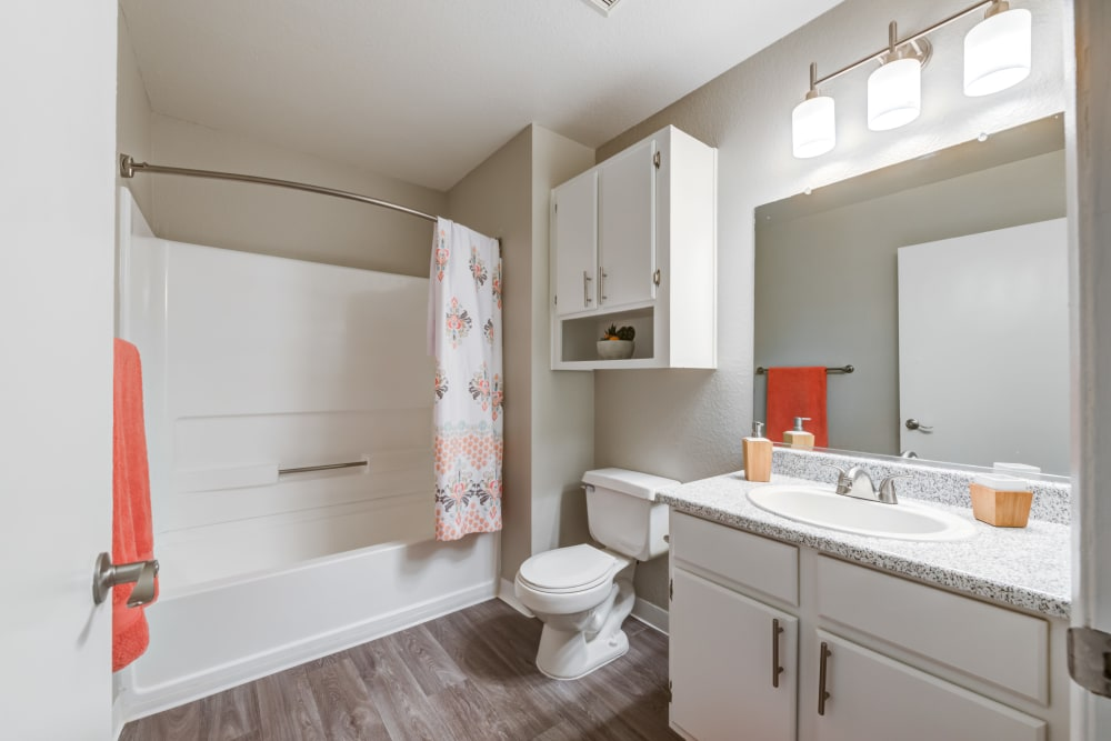 Our Apartments in Lancaster, California offer a Bathroom