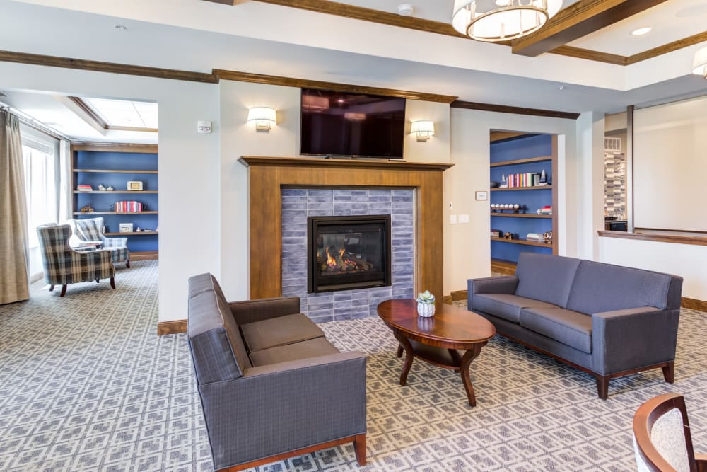 Seating area at Talamore Senior Living in St. Cloud, Minnesota