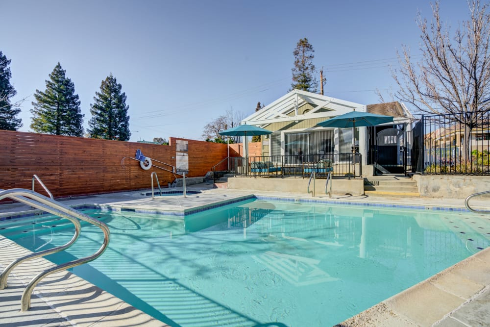 Swimming pool at Haven Martinez in Martinez, California