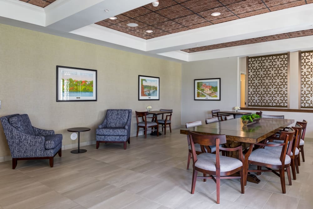 Dining area at Talamore Senior Living in St. Cloud, Minnesota