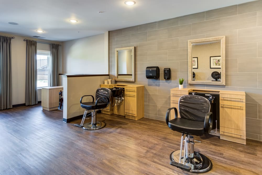 Salon at Talamore Senior Living in St. Cloud, Minnesota