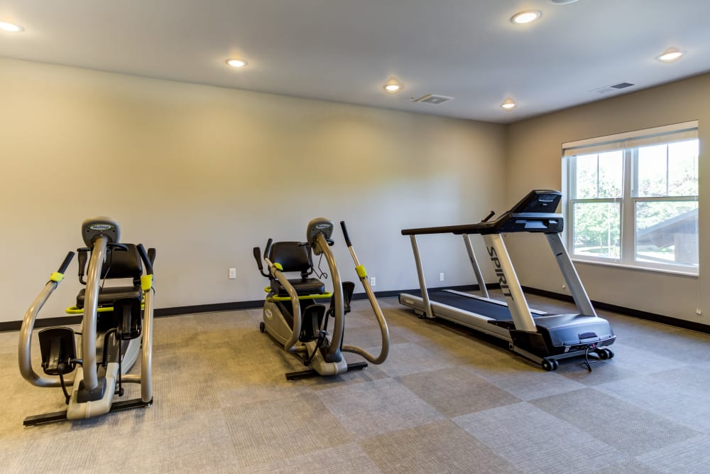 Exercise equipment at Talamore Senior Living in St. Cloud, Minnesota